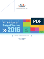 Budget Session 2016 Report