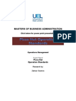 Operations Management Pizza Hut Standards- Project Report