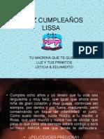 FELIZ CUMPLEAÑOS LISSA