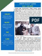 UNHCR External Update June - July 2016