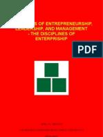 Highlights of Entrepreneurship, Leadership, and Management - The Disciplines of Enterpriship