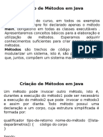 METODOS EM JAVA