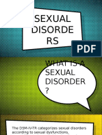 Sexual Disorders Paraphilia