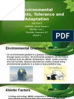 Environmental Gradients, Tolerance and Adaptation, Threats to the Environment