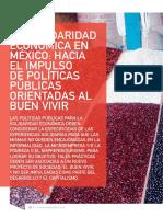 La Solidaridad Economica en Mexico Hacia El Impulso de Politicas Publicas Orientadas Al Buen Vivir