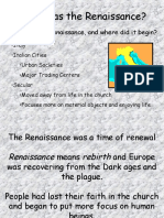 The Renaissance in Europe - Chrsitian v. Mabilin