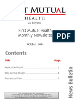 First Mutual Health Newsletter - October Edition