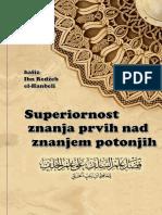 SUPERIORNOST ZNANJA PRVIH NAD ZNANJEM POTONJIH   -   hafiz  Ibn Redžeb el-Hanbeli