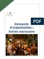Dossier de Demande d'Organisation