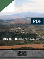 2016 Monticello Community Rural Planning Assessment