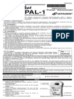 Atago PAL-1 Refractometer Instruction Manual