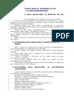 Actividades desarrollo grafomotriz