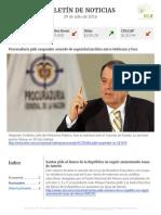 Boletín de noticias KLR 29JUL2016