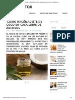 Cómo Hacer Aceite de Coco en Casa Libre de Aditivos - Modo Detox