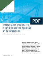 Tratamiento Regalias en Argentina
