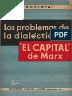 Rosental Los Problemas de La Dialéctica en El Capital de Marx