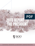 Information Security Oversight Office (ISOO) Annual Report to the President--2015 Annual Report
