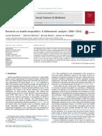 2015 Bibliometría Inequidad en salud (1966-2014)