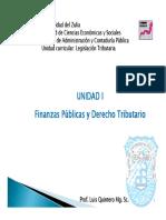 Unidad i Finanzas Publicas y Derecho Tributario