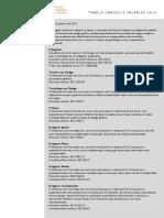 Tabela de Referência de Cargos e Salarios 2016 - ADEGRAF