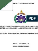 Carrera de Construccion Civil- Investigacion