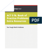 5 Lb Act Extra Ten Tough Math Problems