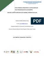 La Implementación de un Modelo Pedagógico y su relación con los Estilos Pedagógicos de los docentes caso de la Institución Educativa Normal Superior de Falan