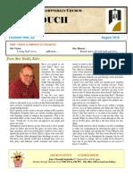 August Newsletter 2016