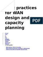 Best Practices for WAN Design and Capacity Planning