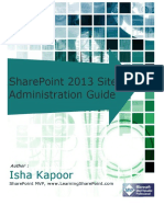 SharePoint 2013 Site Administration Guide