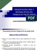 Exposicion Oral y Defensa Del TFG