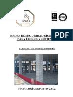 Manual Instrucciones Redes de Cierre Vertical