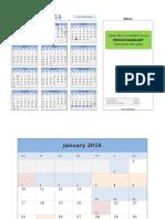 2013 Calendar With Event Planner v2