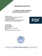 SIBL Internship Report