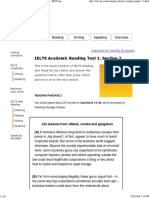 IELTS Academic Reading Free Samples. Sample 1.2 - IELTS-up