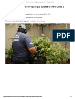 Cae Red de Tráfico de Drogas Que Operaba Entre Cuba y Costa Rica