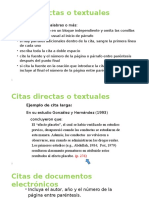 Apa - Citas Directas o Textuales