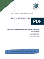 Modulo de Metodologia de Investigação Científica