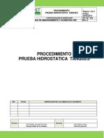 1.4.6 Procedimiento Prueba Hidraulica Tanques