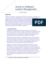 Report on Software Configuration Management