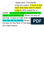 Past Tense Verbs Practice--Billy Was in a Restaurant
