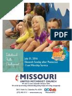 July 31, 2016 Bulletin