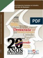 Mecanismos de Participación Ciudadana- 20 años de ilusión