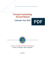 New York State Prompt Contracting  Annual Report for 2015