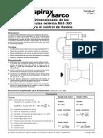 Dimensionado de Las Válvulas Esférica M45 ISO Para-Hoja Técnica