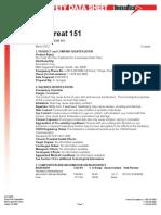 MSDS Pro Treat 151