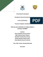 Guia Para Que Estudiantes de Colegios Apliquen a Examenes Del ENES ECO1 Grupo1