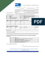 Formulario Sugerido Para Actualización de Datos Del Inmueble
