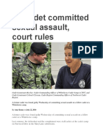 22 Jul 2016 - Cadet Receives Unwanted Oral Sex at Summer Camp, Court Rules