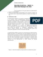 DEFORMACIÓN PLÁSTICA - PARTE 1- LAMINACIÓN-TRABAJO EN FRÍO